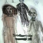 Warzone is een tekening van beeldend kunstenaar/schrijver Huis van Duif